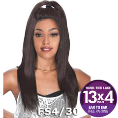 "Zury Sis Prime Human Hair Blend 13""X4"" Free-Parting Lace Front Wig - BIZ"