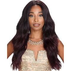 "Zury Sis Prime Human Hair Blend 13""X4"" Free-Parting Lace Front Wig - BRADY"