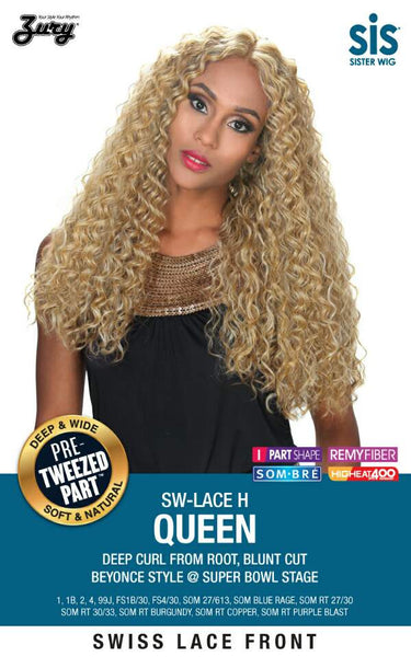 Sis Royal Pre-Tweezed Part Swiss Lace Front Wig - QUEEN