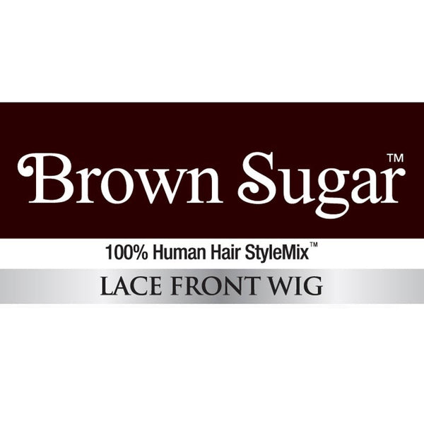"Brown Sugar Human Hair Blend Bang Lace Wig - BSB03 CLOVER (16"")"