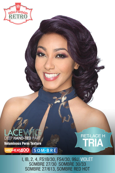 Sis Hollywood Retro Lace Front Wig - TRIA