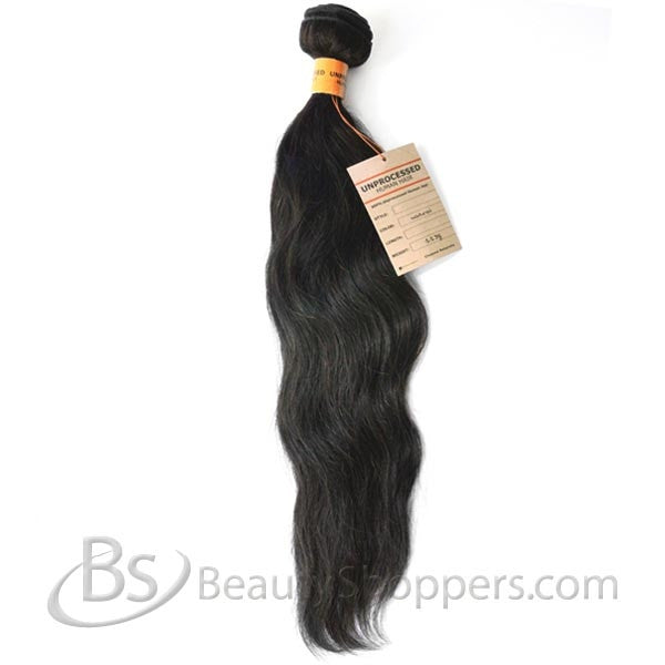 Bare & Natural Unprocessed Brazilian Remi Hair Weave - NATURAL WAVY (Bundle Hair)