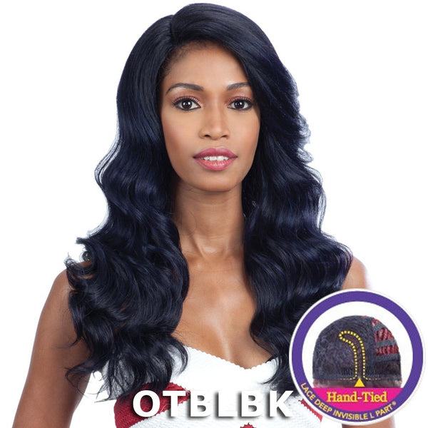 "FreeTress Equal Lace Deep Invisible ""L"" Part Lace Front Wig - ORANGE BLOSSOM"