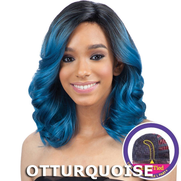 "FreeTress Equal Lace Deep Invisible ""L"" Part Lace Front Wig - PETAL BLOSSOM"