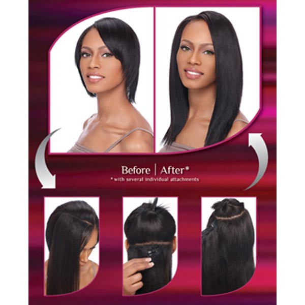 Sensationnel 100 Human Hair Yaki Clip In Weaves 12