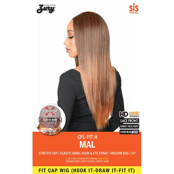 Zury Sis Fit Cap Synthetic Hair HD Lace Front Wig - MAL 24""