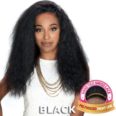 "Zury Sis Unprocessed Human Hair 13""X4"" Free-Parting Lace Front Wig - LIBRA"