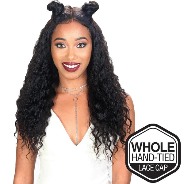 "Sis Unprocessed Brazilian Remy Hair Whole Lace Wig - DEEP WAVE 26"" (Wet & Wavy)"