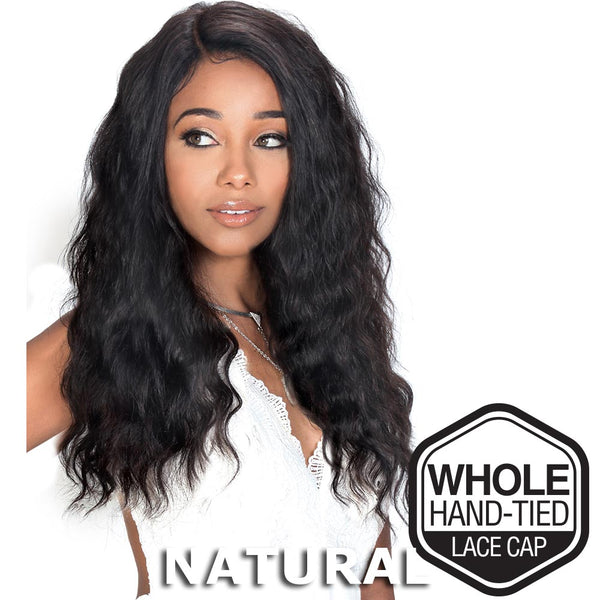 Sis Unprocessed Brazilian Remy Hair Whole Lace Wig - OCEAN WAVE 24""