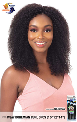 Naked Nature Unprocessed Hair Wet & Wavy Hair Weave - Bohemian Curl 3PCs