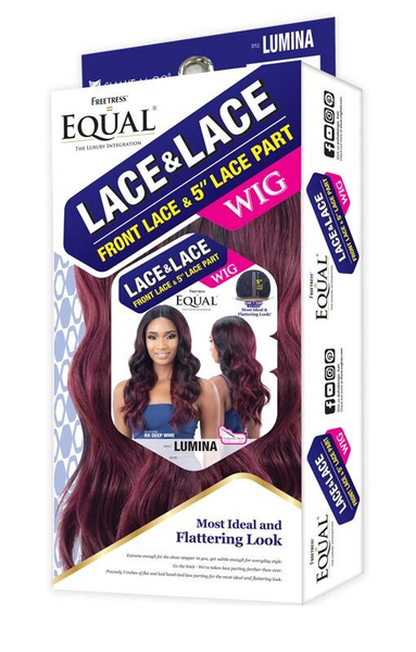 "Shake-N-Go FreeTress Equal Hair 5"" Deep Front Lace Wig  - Lumina"