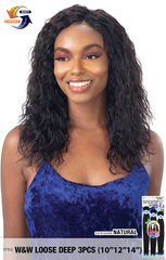 Naked Nature Unprocessed Hair Wet & Wavy Hair Weave - Loose Deep 3PCs