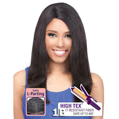 "Outre ""L""- Part Lace Front Wig - NATURAL YAKI 18"""