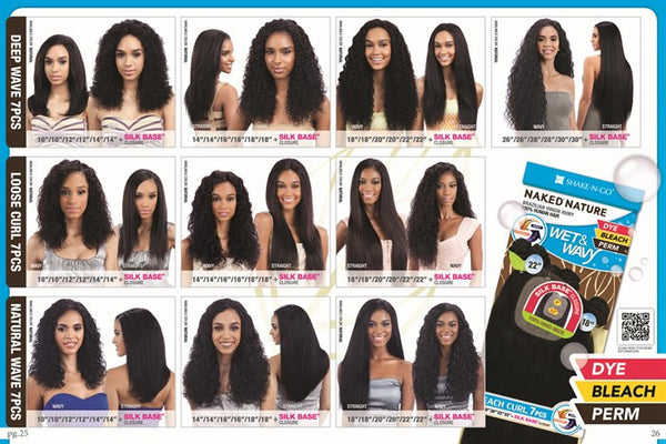 Naked Nature Unprocessed Remy Wet & Wavy Hair Weave - DEEP WAVE 7PCS