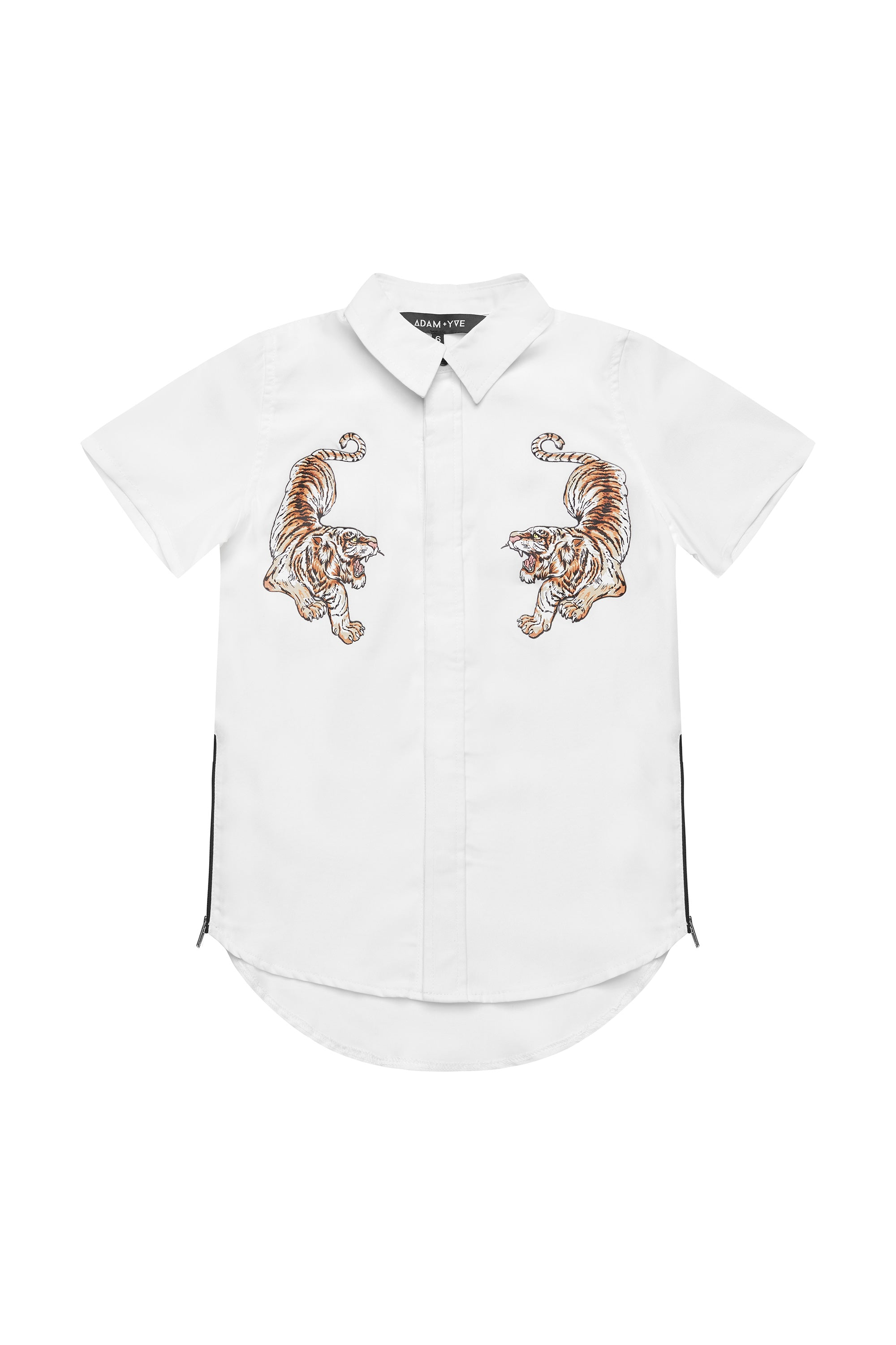 White Tiger Button Up