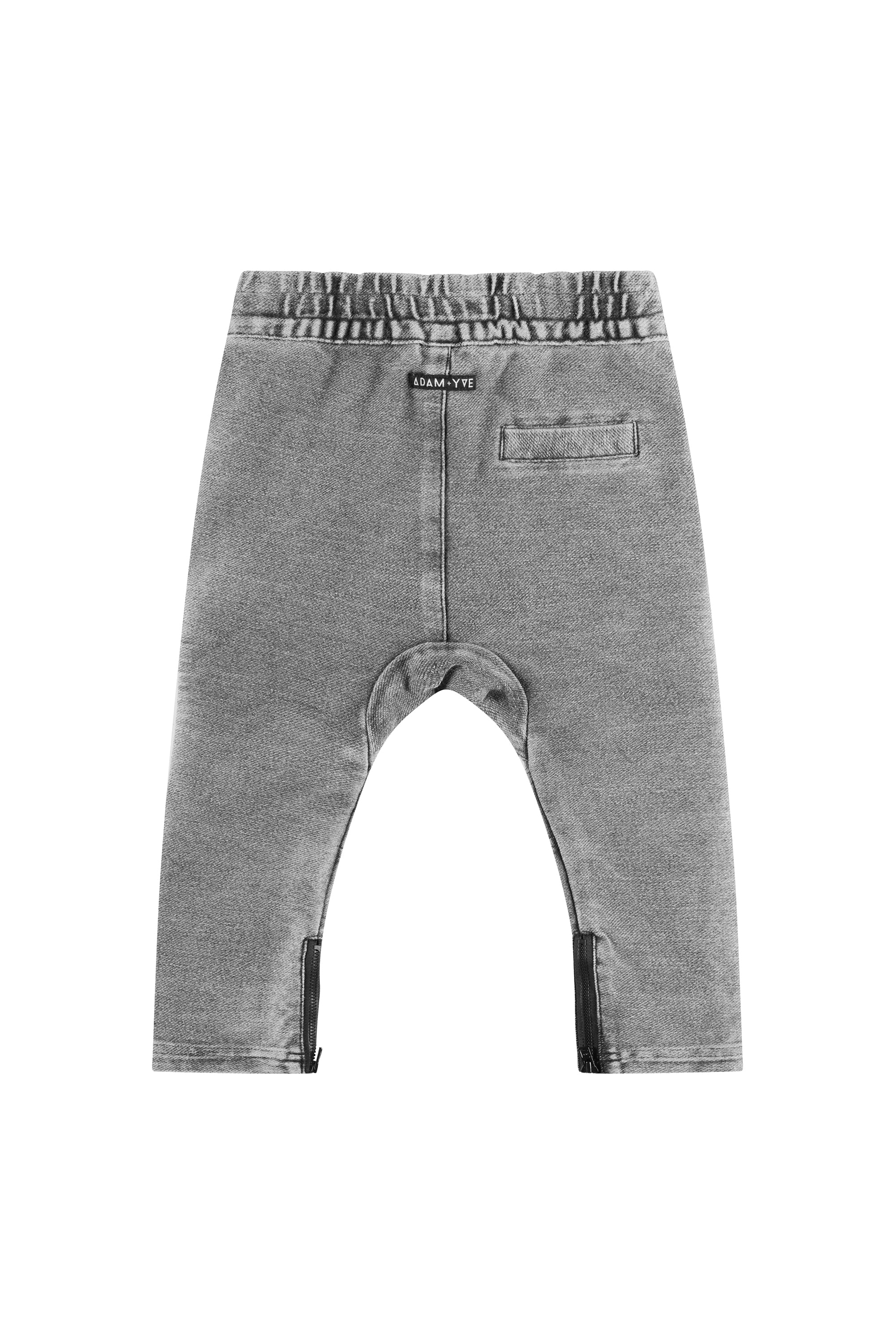Grey Denim Biker Joggers