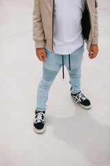 Blue Denim Biker Joggers