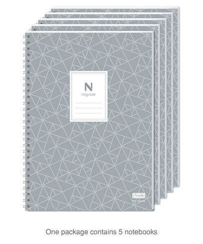 N ring notebook contains 5 notebooks (152p ea)