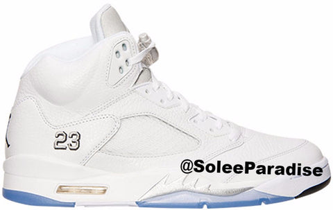 Jordan 5 White Metallic Silver GS