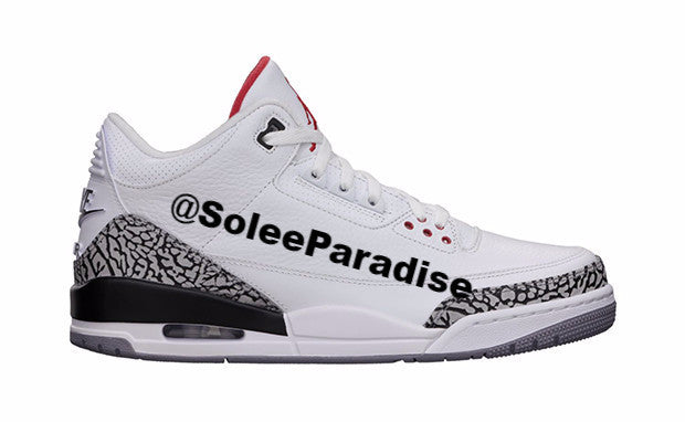 official photos eec4f 3110b Jordan 3 White Cement 88