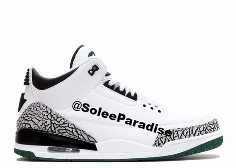 Jordan 3 Oregon White