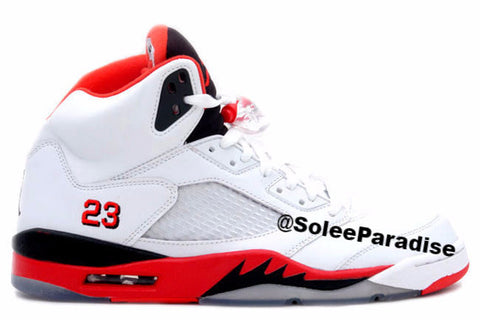 Jordan 5 Fire Red Black GS