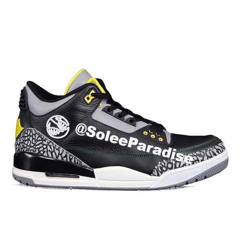 Jordan 3 Oregon Black
