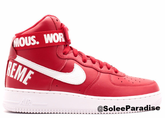 Nike Air Force one red high