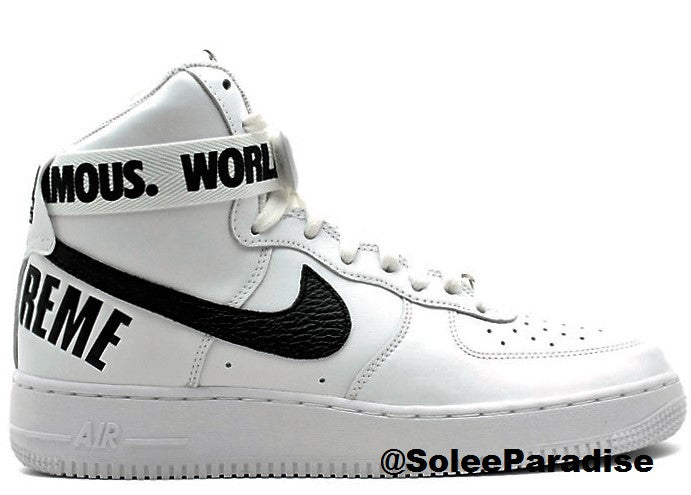 Air Force One Supreme White | Shoes in 2019 | Nike air force