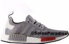 Adidas NMD Primeknit Grey Onix /Red White
