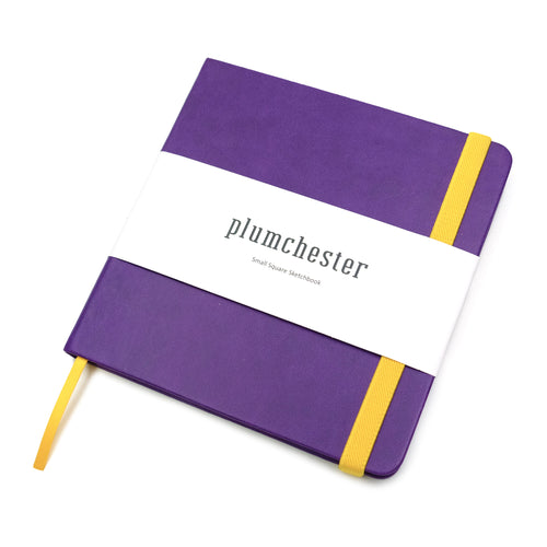 Plumchester Small Square Sketchbook