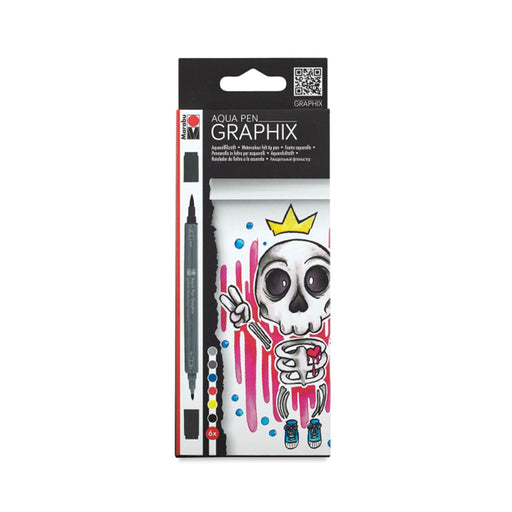 Marabu Graphix Aqua Pens, King of Bubblegum Set of 6 - ArtSnacks