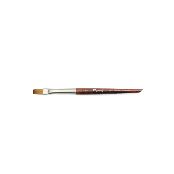 Raphaël Mini Precision Brush, Flat Size 2