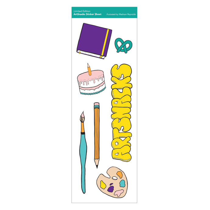 ArtSnacks Sticker Sheet - ArtSnacks