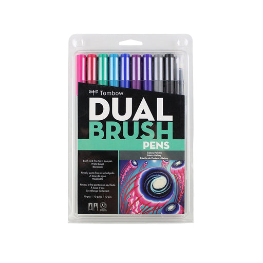 Tombow Dual Brush Pens, Galaxy Set of 10 - ArtSnacks