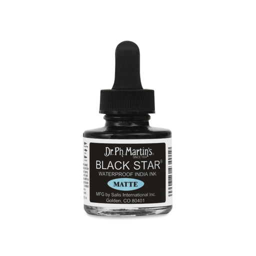 Dr. Ph. Martin's Black Star Matte India Ink
