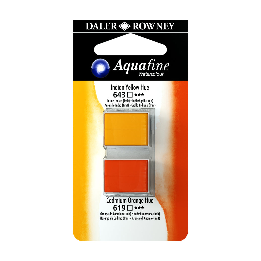 Daler-Rowney Aquafine Watercolour, Half Pan Twin Set - ArtSnacks