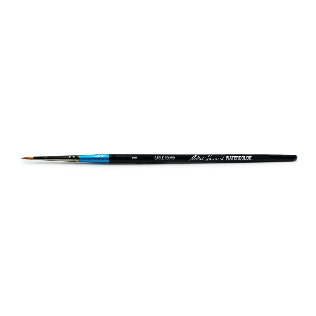 Robert Simmons Sable Watercolor Brush, Round Size 1 - ArtSnacks