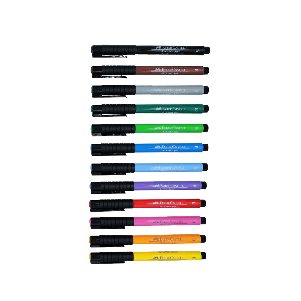 Faber-Castell PITT Artist Brush Pens, Studio Box Set of 12 - ArtSnacks