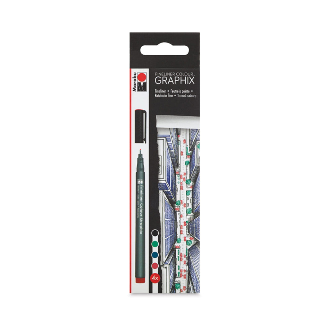 Marabu Graphix Colour Fineliners, Skyline Set of 4 - ArtSnacks