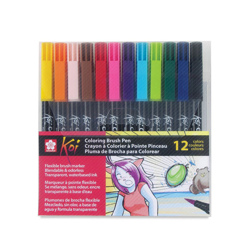 Sakura Koi Coloring Brush Pens, Set of 12 - ArtSnacks