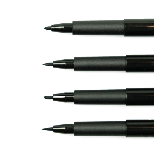 Faber-Castell PITT Artist Pens, Black Set of 4 - ArtSnacks