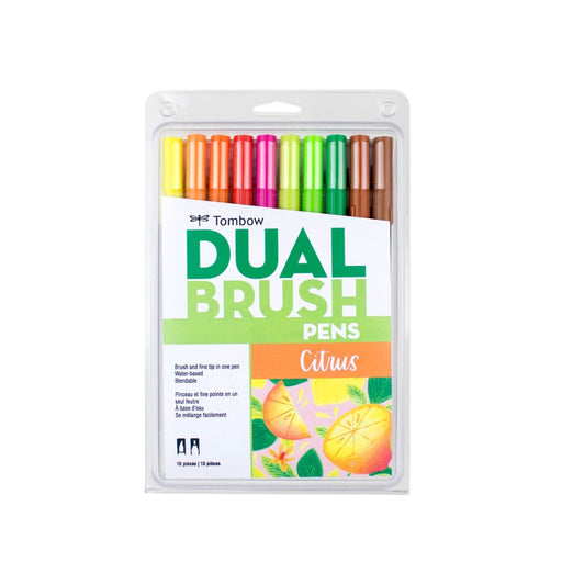 Tombow Dual Brush Pens, Citrus Set of 10 - ArtSnacks