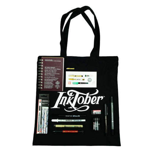 Inktober Travel Tote Bag - ArtSnacks