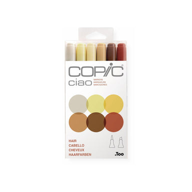 Copic Ciao Markers, Hair Set of 6 - ArtSnacks