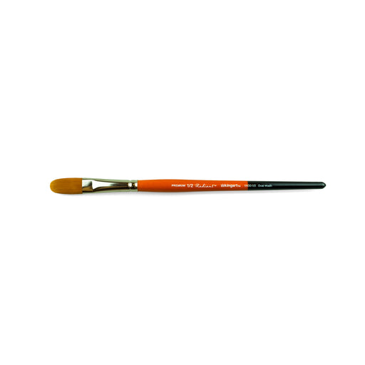 KINGART™ Radiant Taklon Brush, Oval Wash Size 1/2 - ArtSnacks