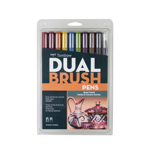 Tombow Dual Brush Pens, Muted Set of 10