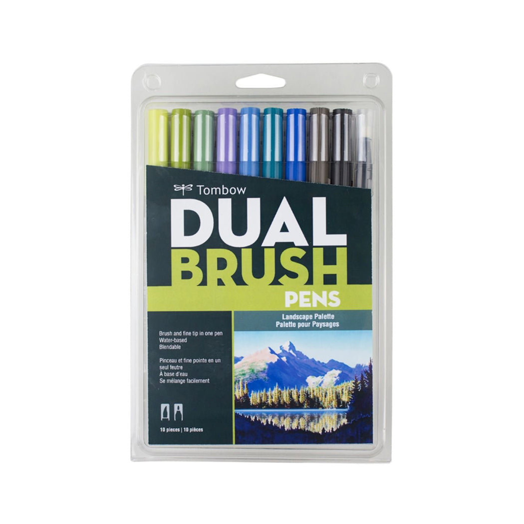 Tombow Dual Brush Pens, Landscape Set of 10 - ArtSnacks
