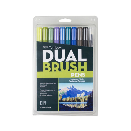 Tombow Dual Brush Pens, Landscape Set of 10