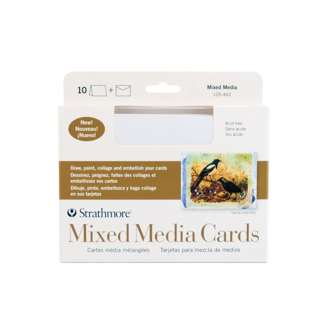 Strathmore 400 Series Mixed Media Cards, Pack of 10